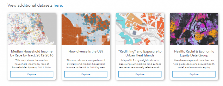 Data Section of the Racial Equity Hub