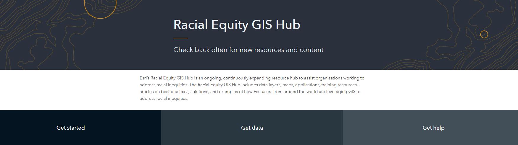 Racial Equity GIS Hub