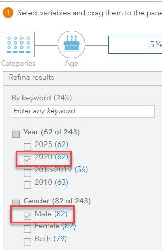 Data browser-refine results