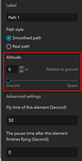Set fly altitude