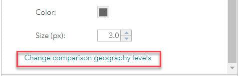 Change comparison geography level