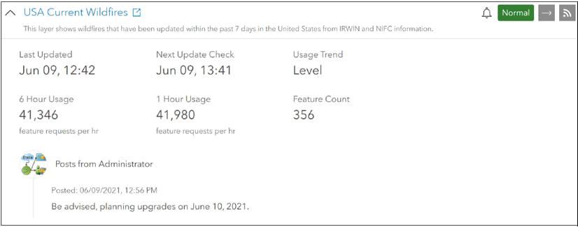 Service status details