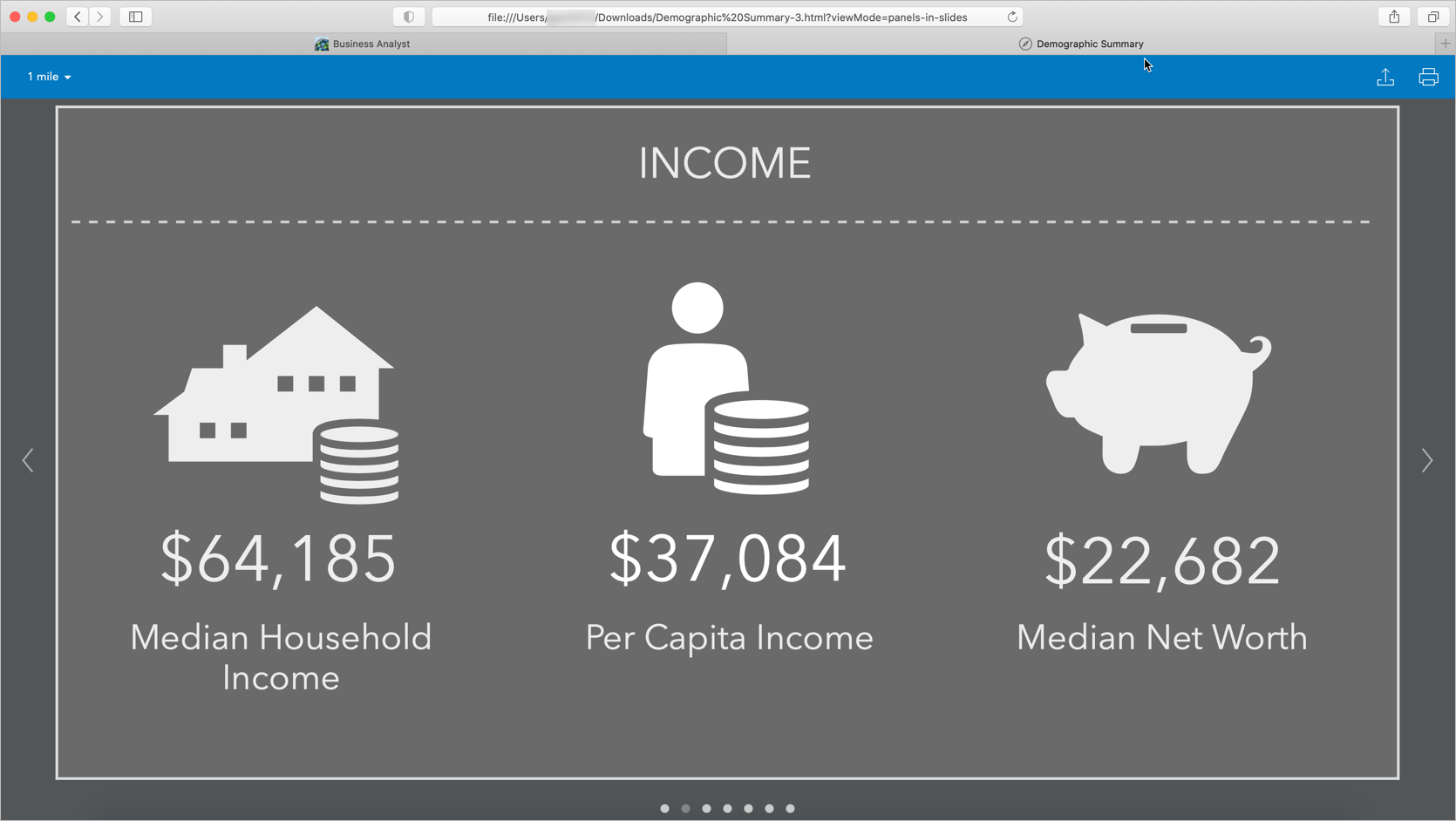 Infographic in slide mode