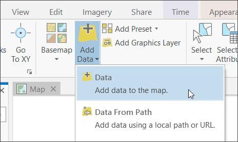 ArcGIS Pro Add Data
