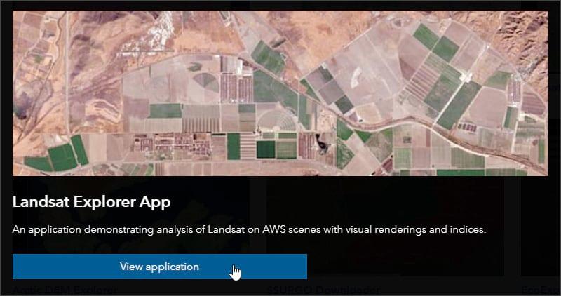 View Landsat Explorer app