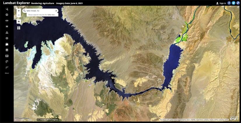 Gregg Basin area, Lake Mead