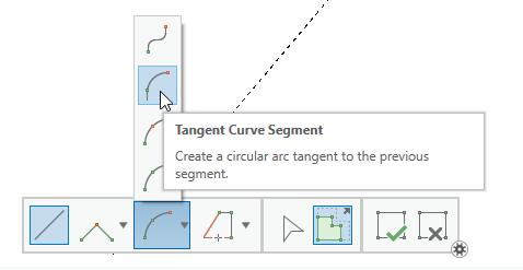 Tangent Curve Segment construction tool