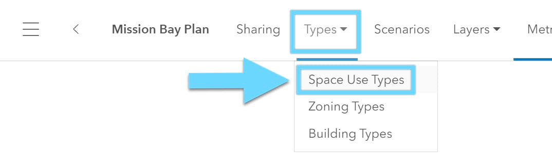 select space use type
