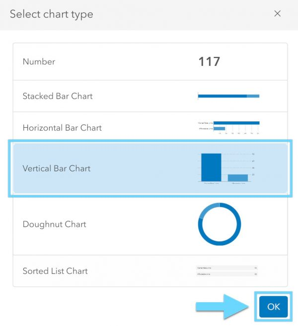 select vertical bar chart