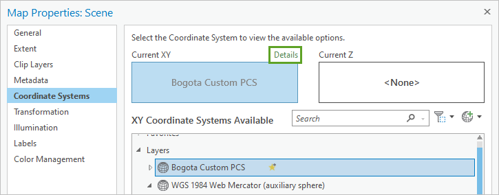 Coordinate systems details link
