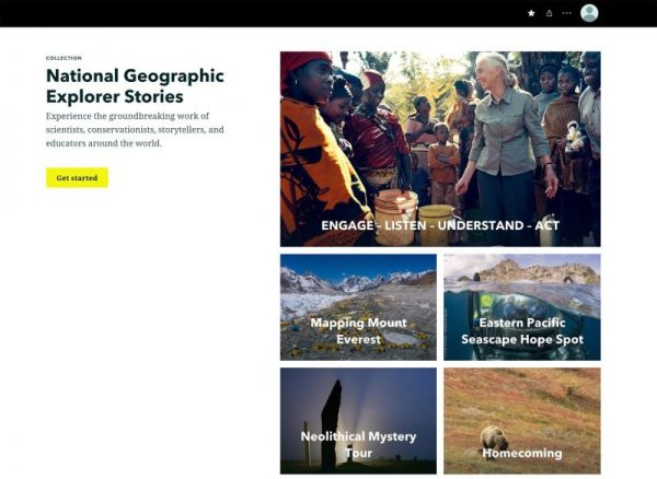 ArcGIS StoryMaps collections help organize groups of stories