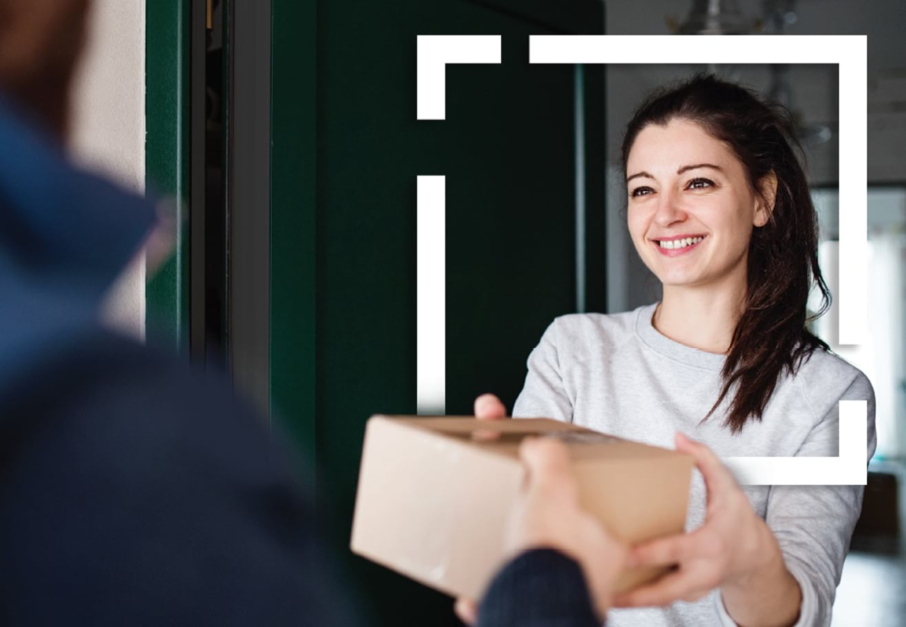 Consumer receiving a package based on behavioral purchases