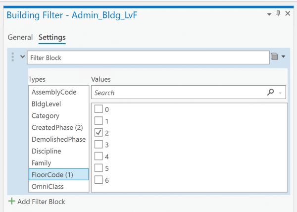 BL Filter Setting - Floor