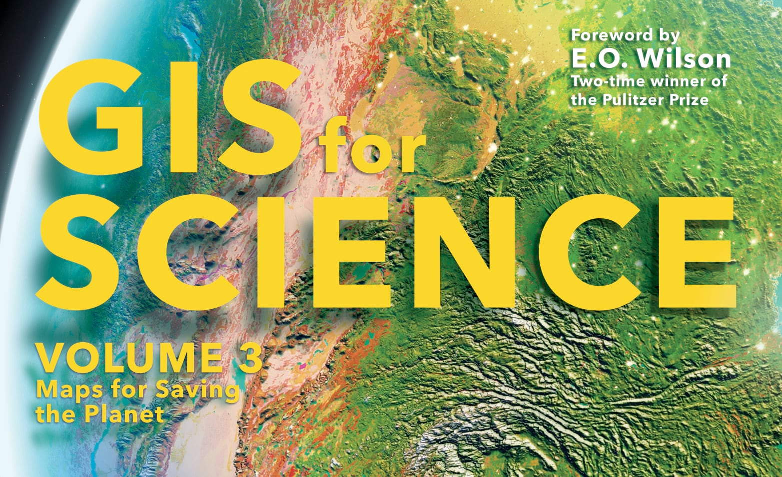 GIS for Science cover art with text shadows.