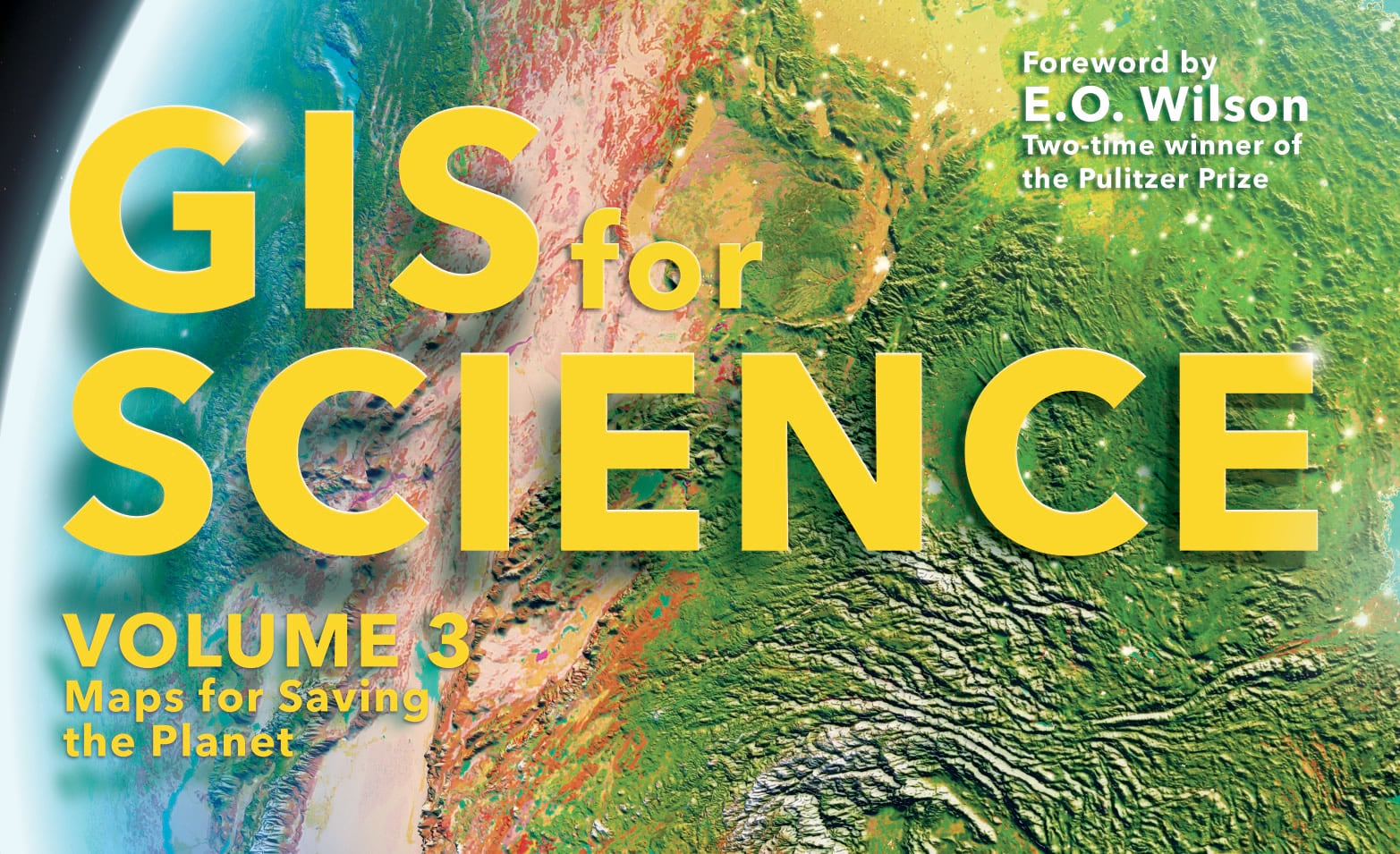 GIS for Science cover art with text lighting effects.
