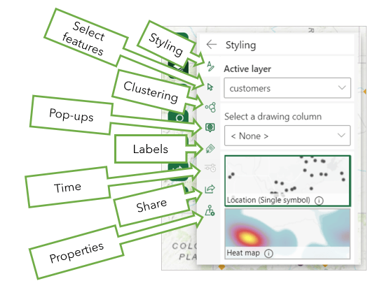 Layer options in ArcGIS for Office