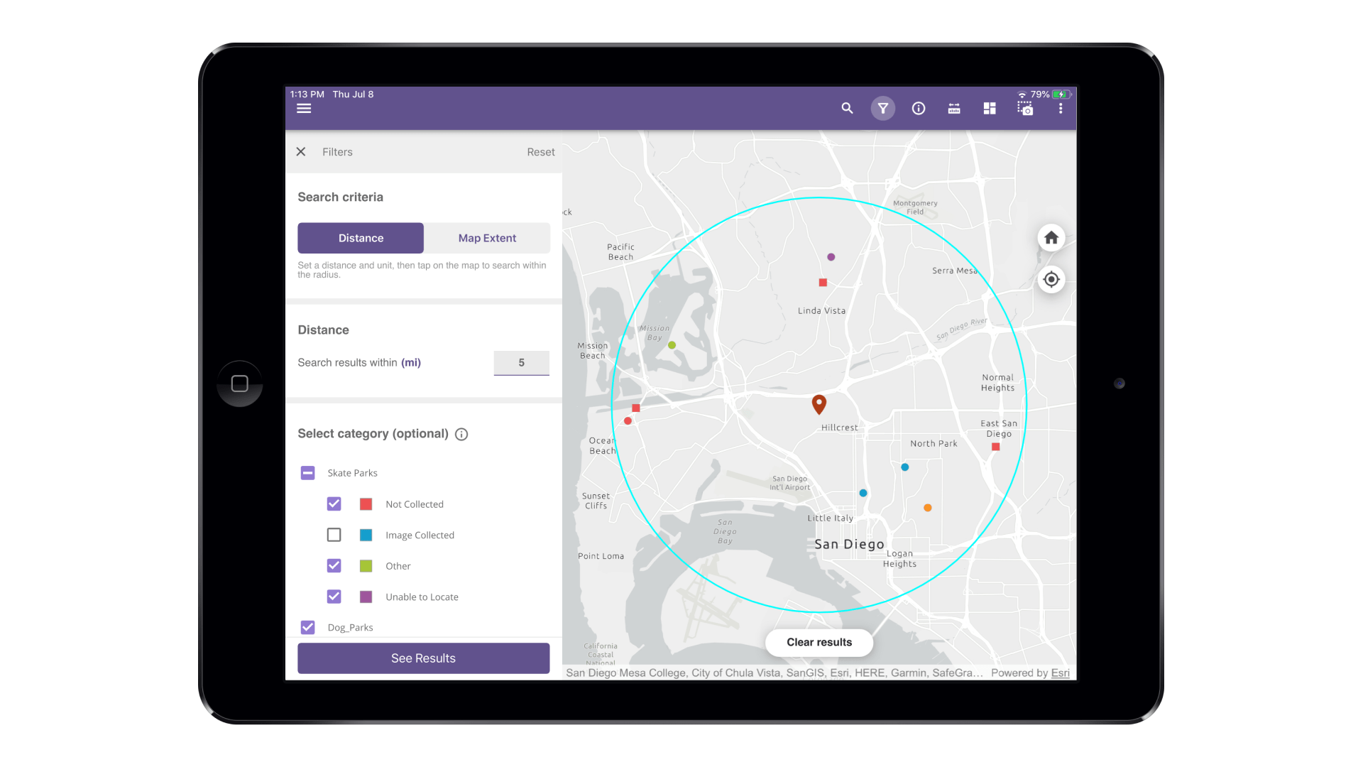 Map Viewer Spatial Query