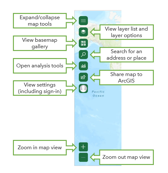 Map tools in ArcGIS for Office