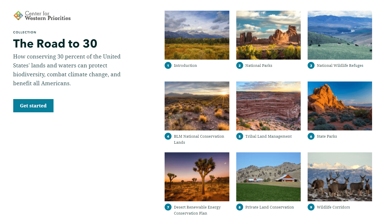 """A collection of stories by the Center for Western Priorities called """"The Road to 30"""""""
