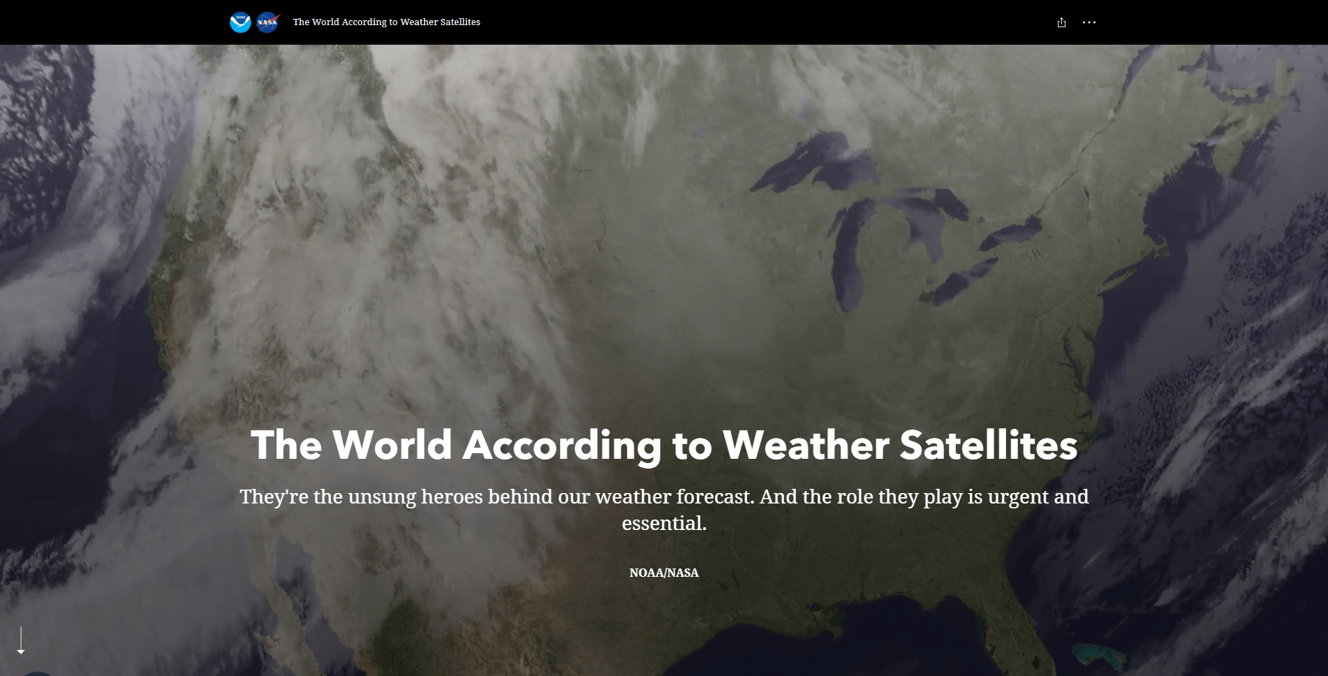 Story cover for The World According to Weather Satellites by NOAA/NASA