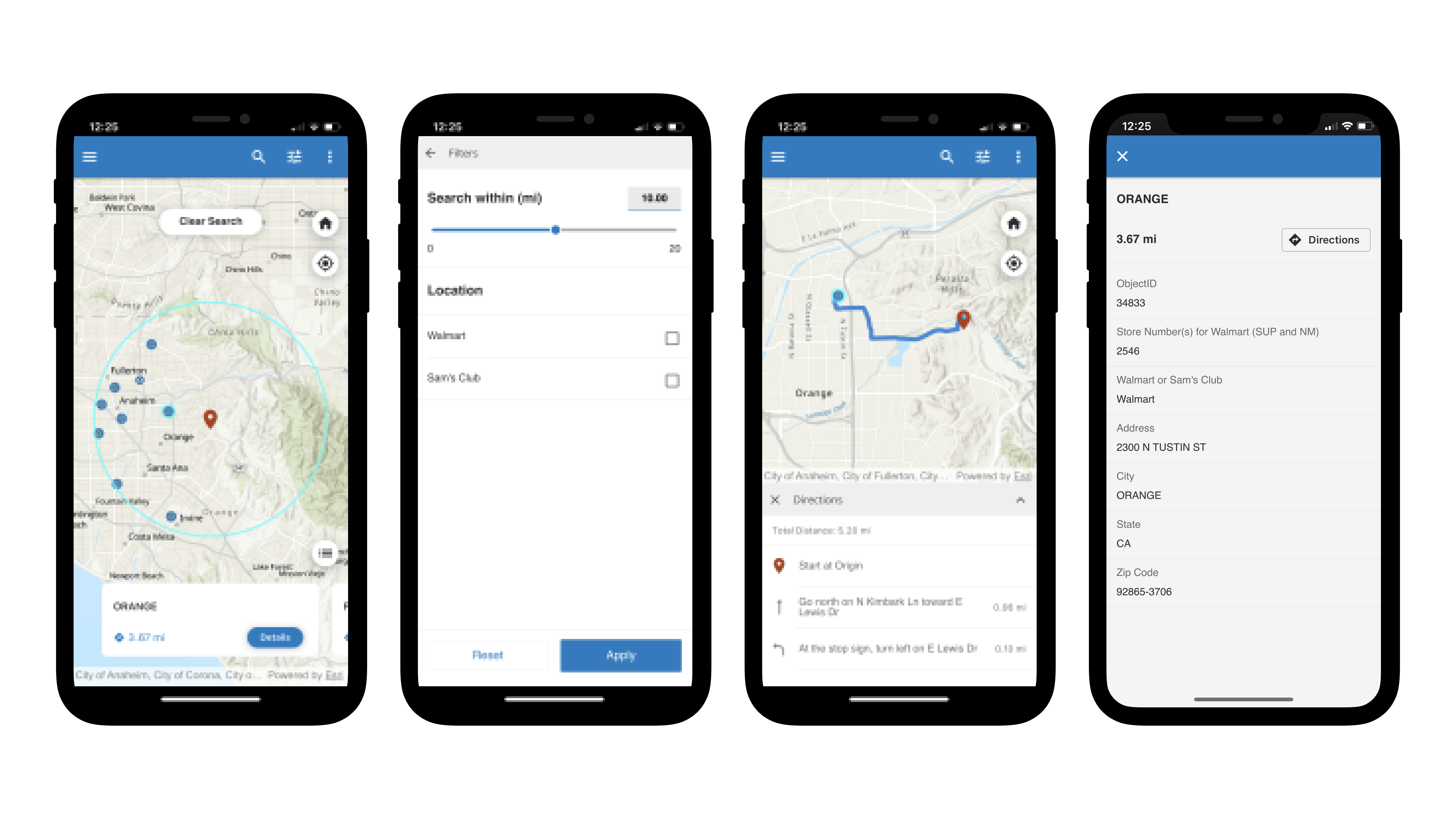 Demonstrating workflow of the Nearby template app