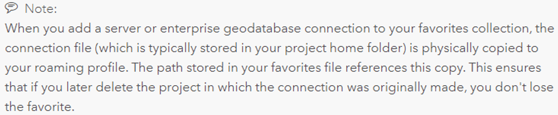 Note that connection files are physically copied to your roaming profile.