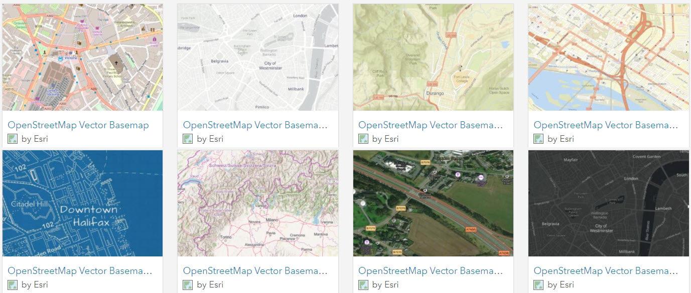 Esri OpenStreetMap