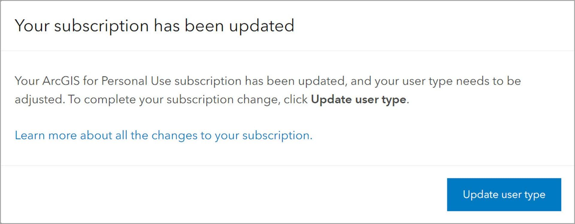 Update user type