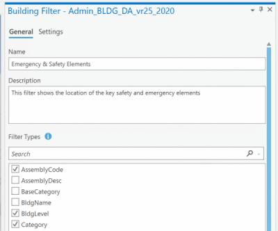 Building Layer Filter Pane S&E