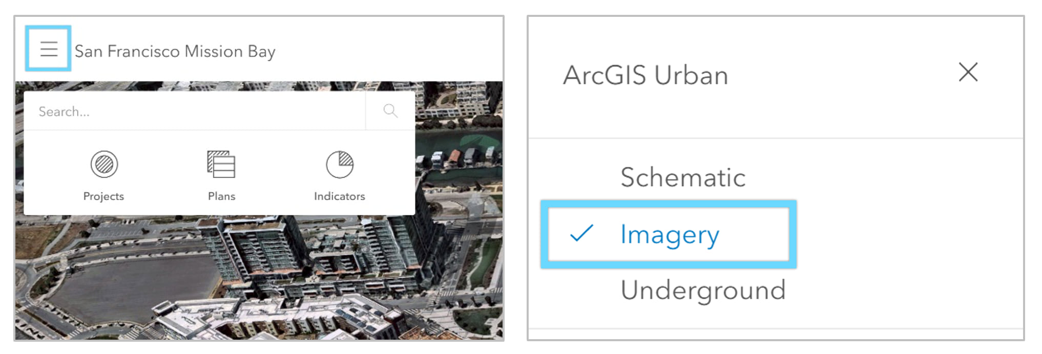 select imagery visualization