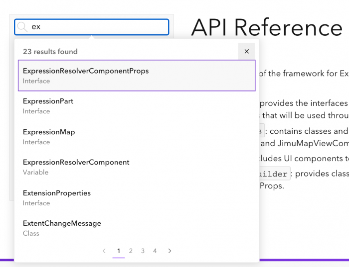Search API reference