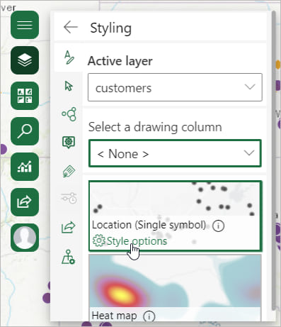 Style options button in ArcGIS for Office