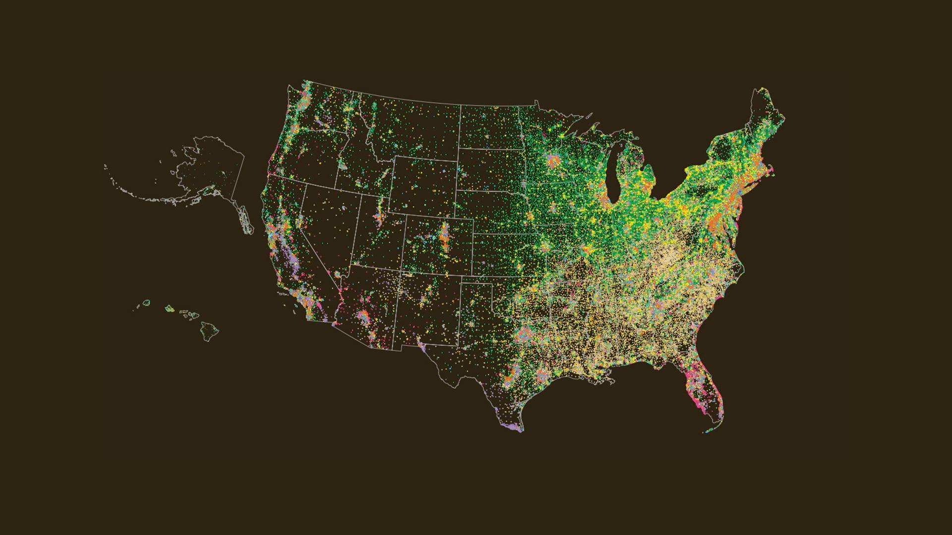 Tapestry Segmentation classifies US neighborhoods into 67 different consumer segments