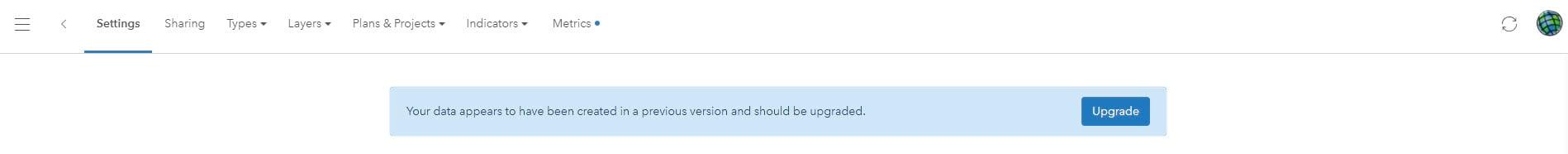 Design Plan Data Upgrade