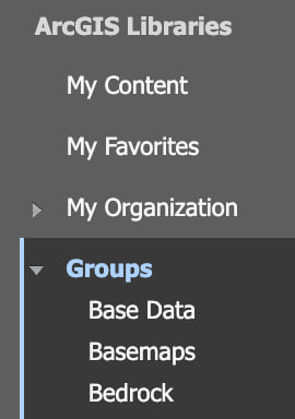 Access Groups when searching and adding content