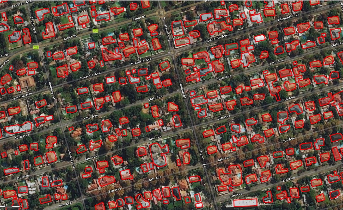 Extracted buildings in Africa