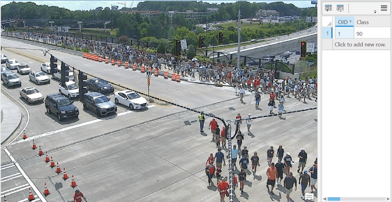 Crowd counting to estimate number of people at an intersection