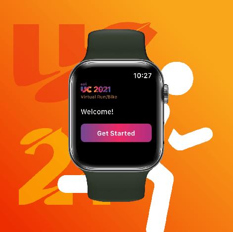Esri UC Virtual Run/Walk/Bike 2021 app on Apple Watch