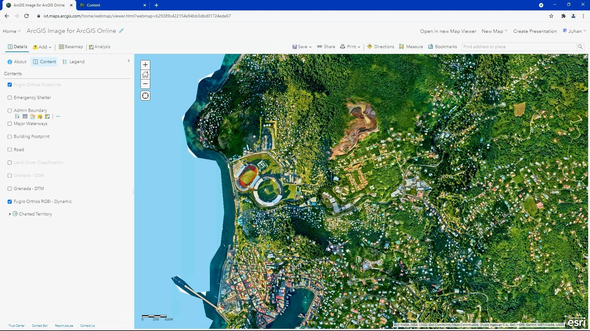 High resolution orthomosaic hosted in ArcGIS Online