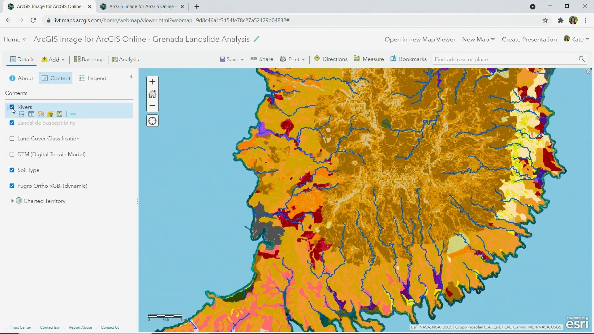 Layers used as input for creating landslide susceptibility map