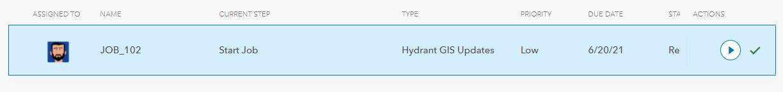 New Hydrant Updates Job Tile