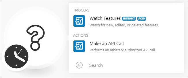Watch Feature Service and Make an API Call options