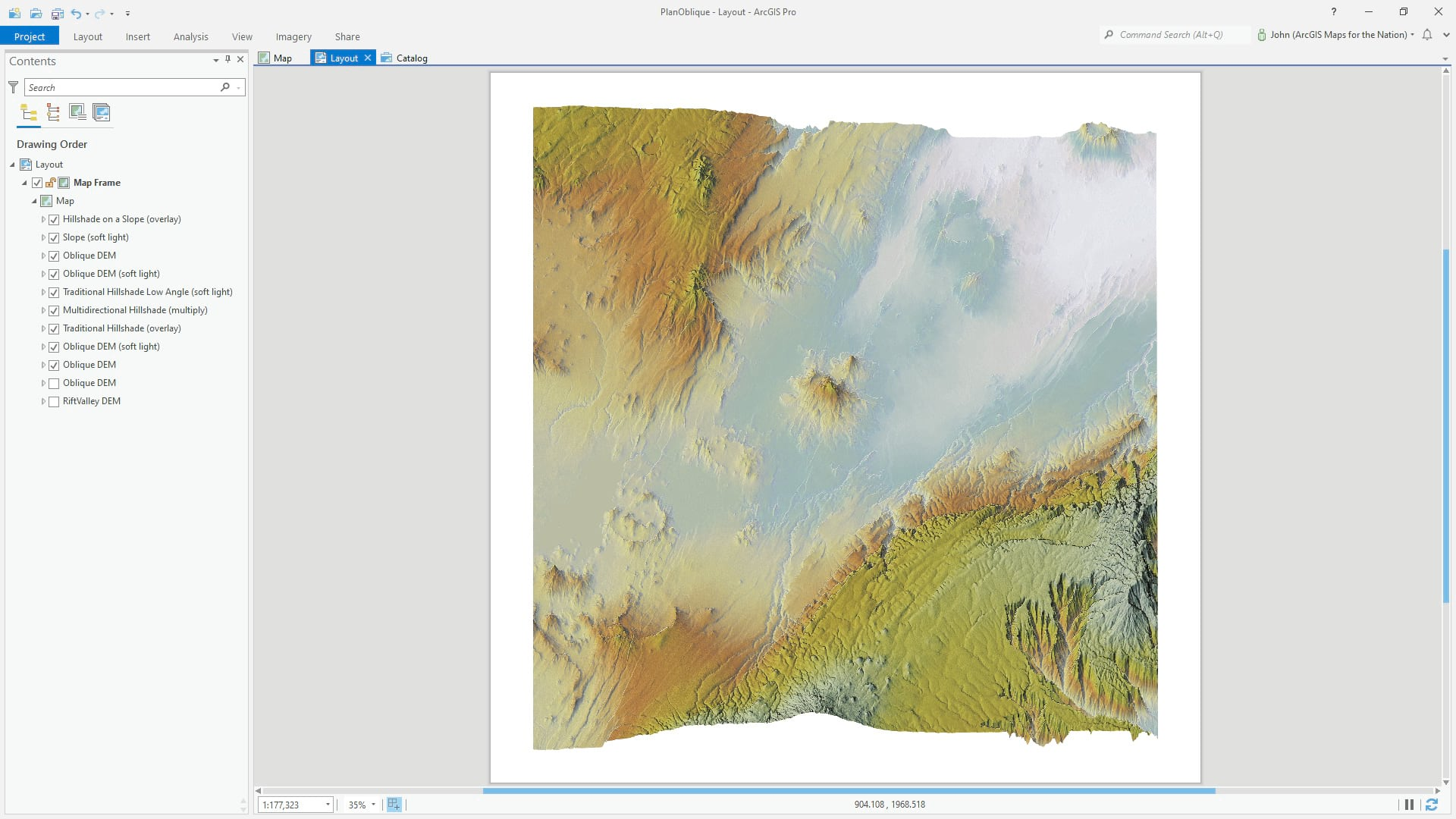 Exporting a layout as AIX, enabled by the Maps for Adobe extension.