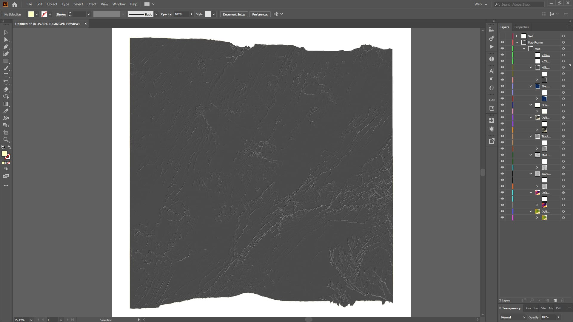 Layers are maintained in Illustrator using the Maps for Adobe export format.