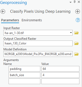 Classify Pixel Using Deep Learning tool