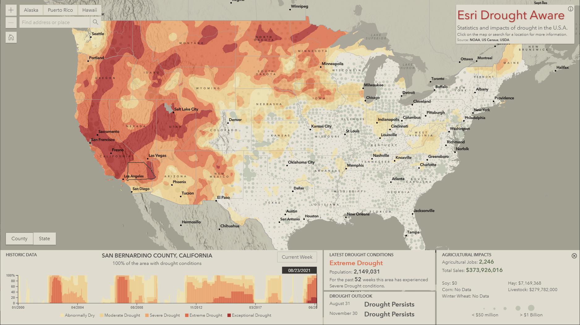 drought aware interface