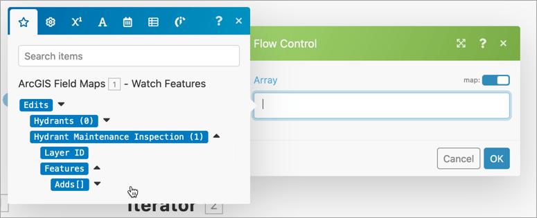 Iterator configuration