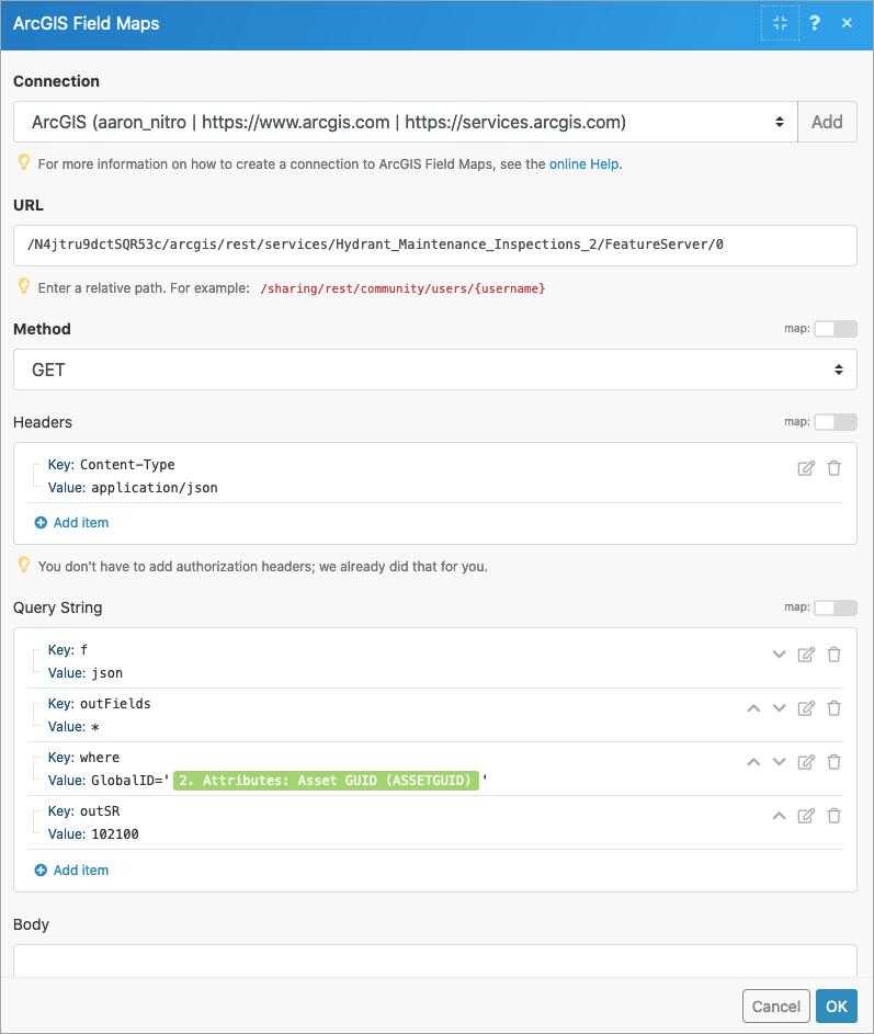 Query hydrants Make an API Call configuration