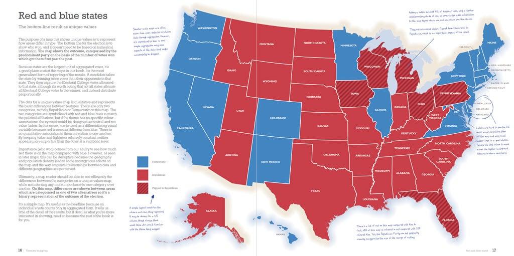Election 2016 map using unique values