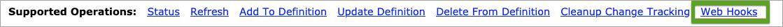 Web hooks admin API